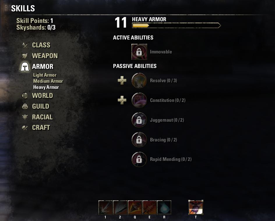 Heavy Armor Skill Line